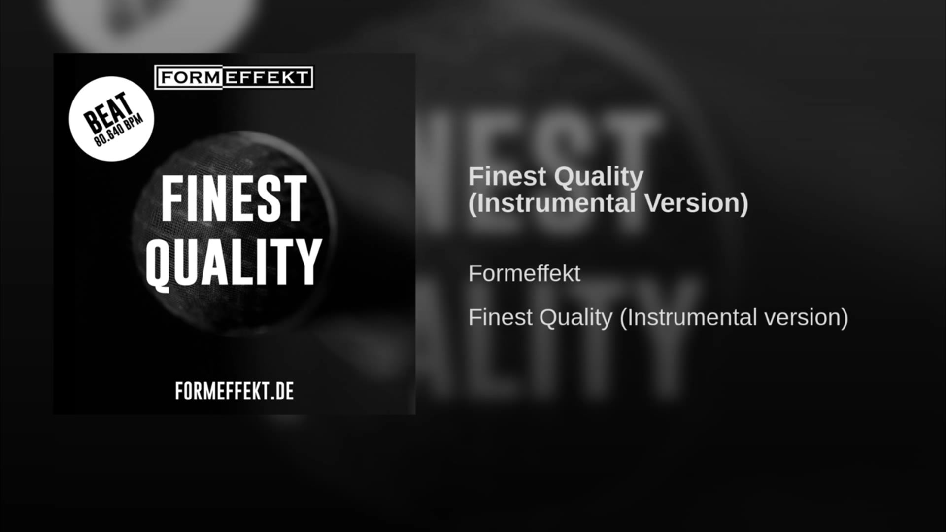 Finest Quality - Beat - You Tube